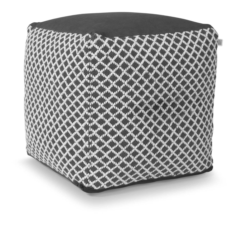 ENORA - Poef donker grijs 40x40x40 cm