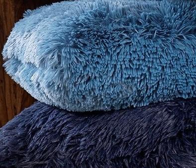FLUFFY - Sierkussen unikleur Provincial Blue 60x60 cm