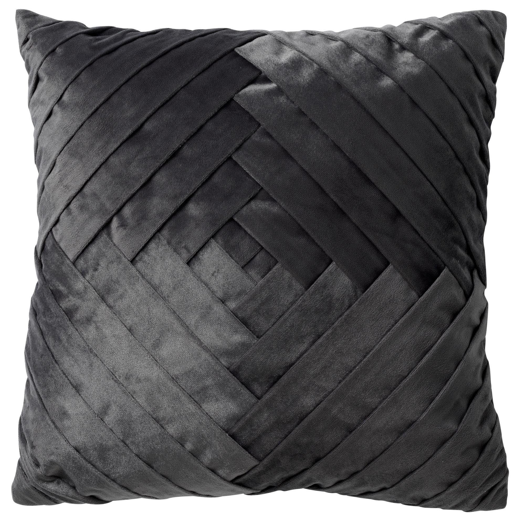 PHILLY - Sierkussen velvet Charcoal Grey 45x45 cm