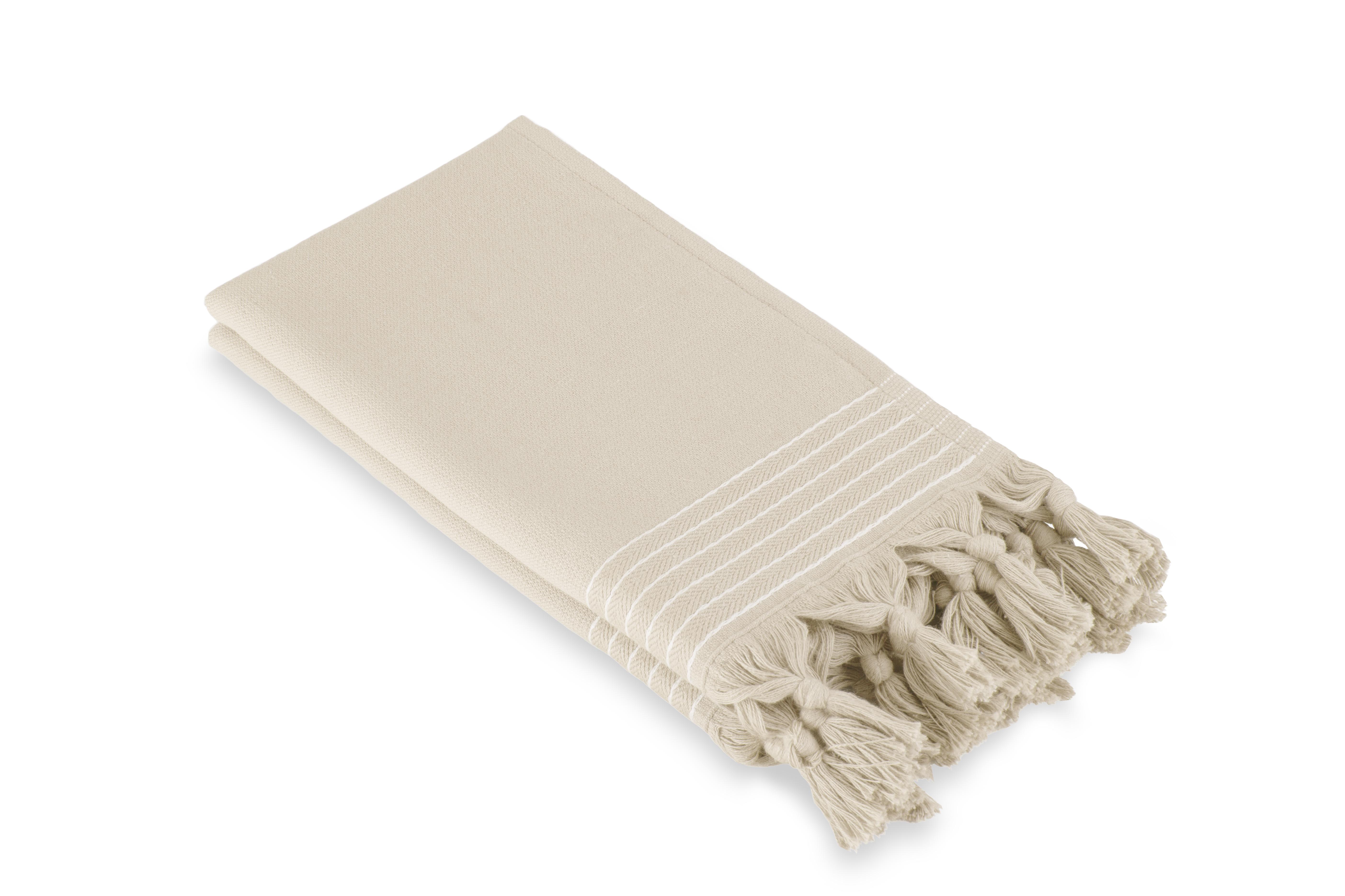 Gastendoek Walra Soft Katoen Hamam (30x50) Kiezel Grijs - 2 stuks