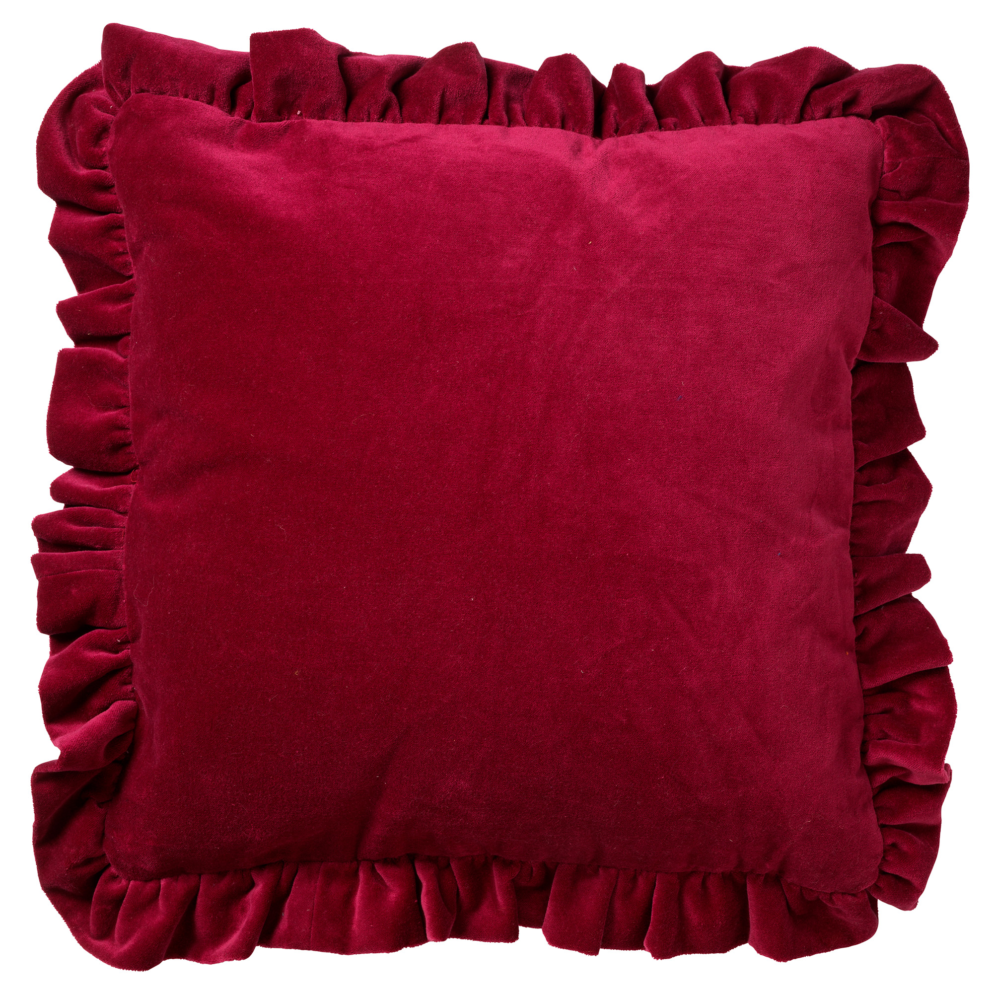 YARA - Kussenhoes velvet Red Plum 45x45 cm
