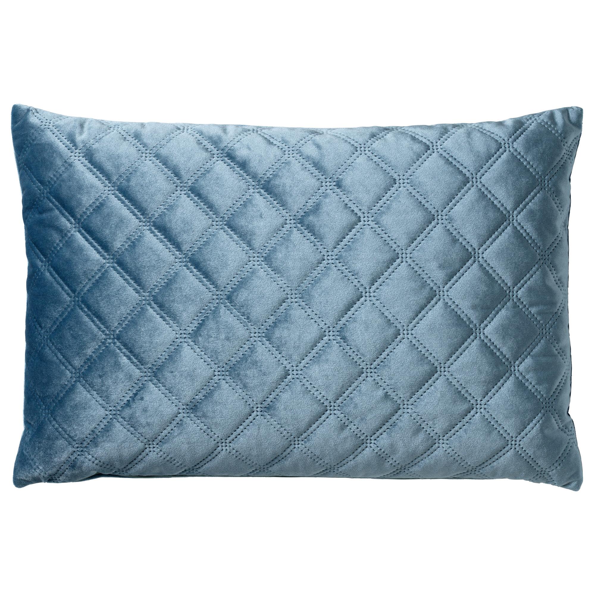 NIELS - Sierkussen velvet Provincial Blue 40x60 cm