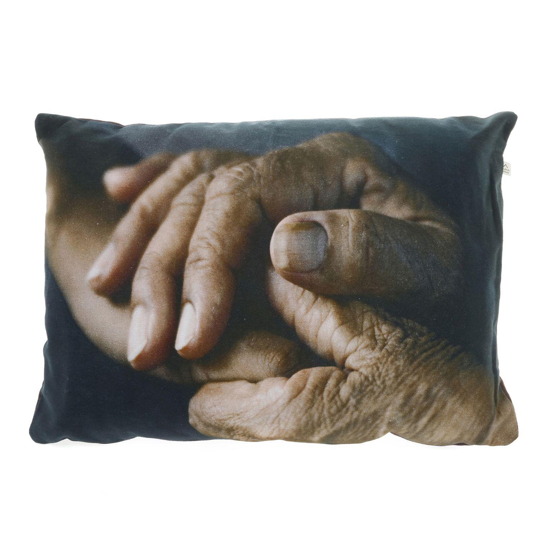 BLOMME - Kussenhoes met print bruin 40x60 cm