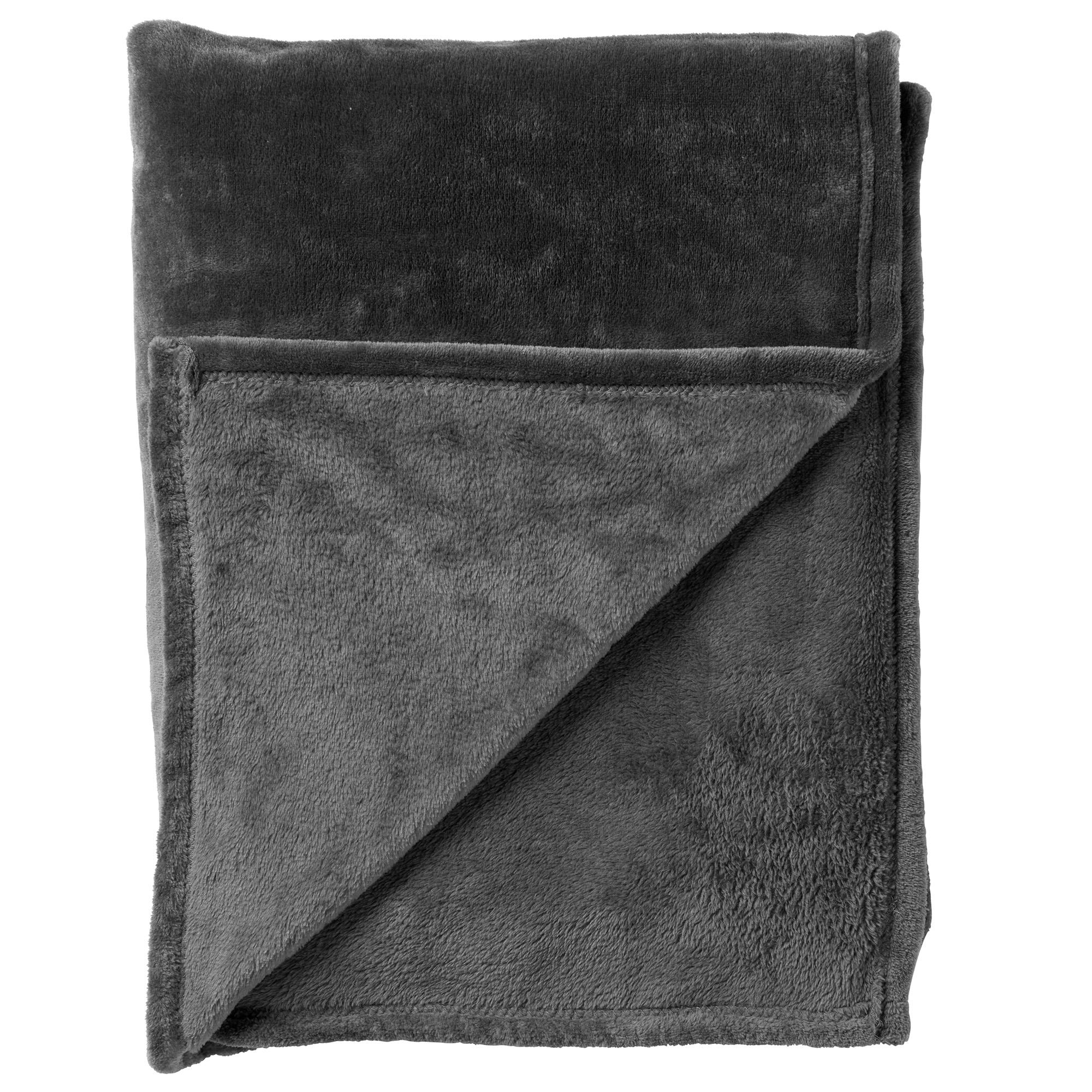 BILLY - Plaid Charcoal Grey 150x200 cm