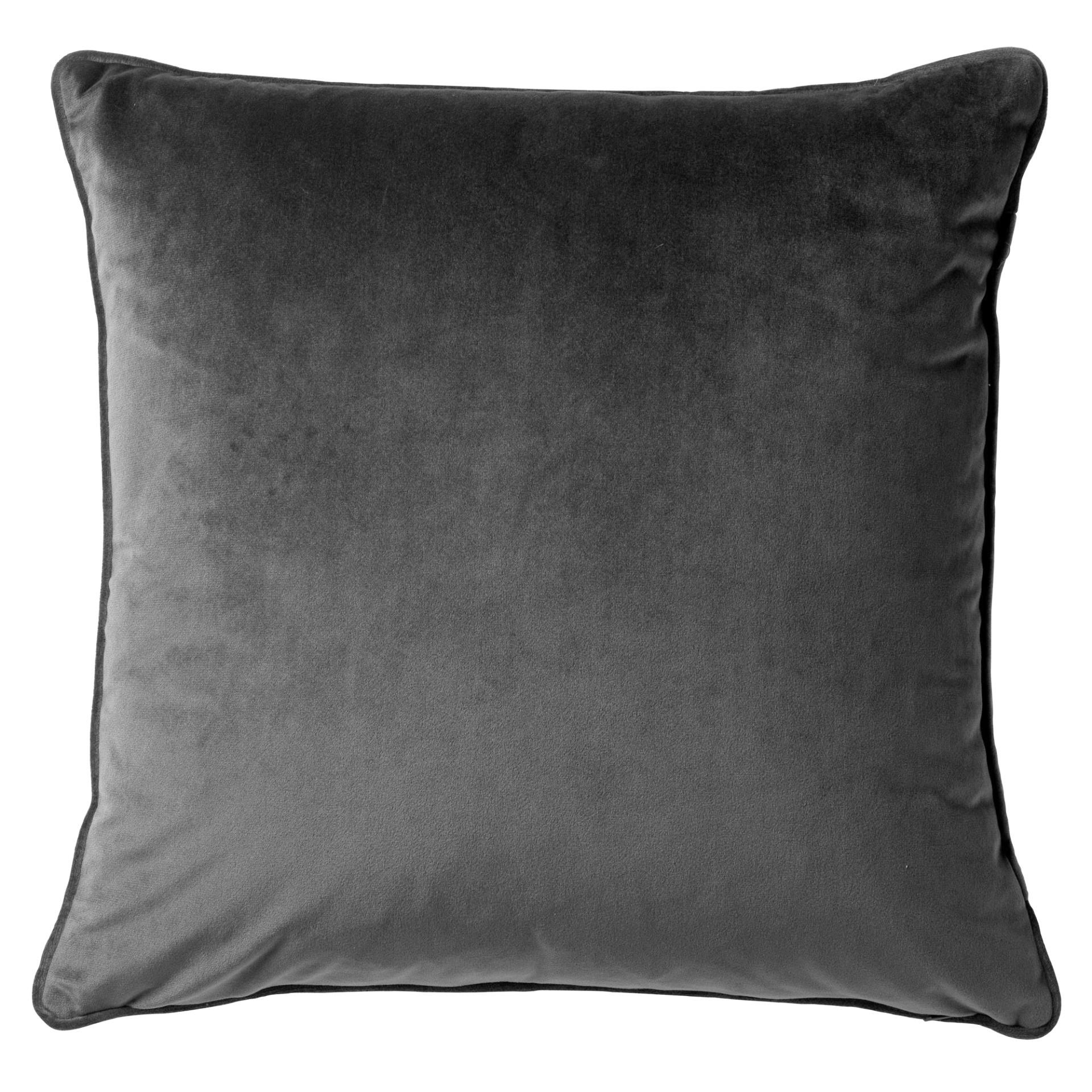 FINN - Sierkussen velvet Charcoal Gray 45x45 cm