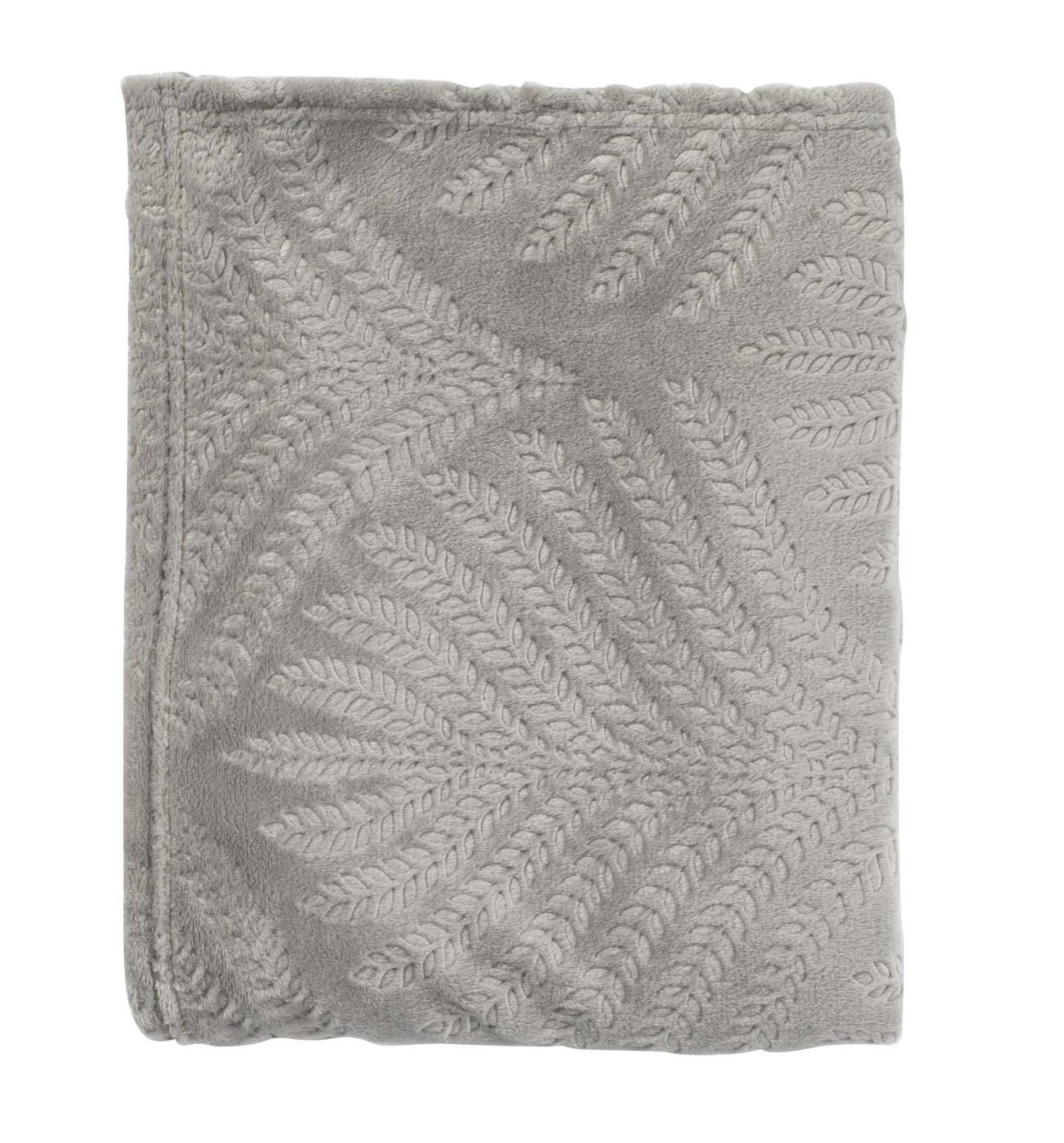 LIZA - Plaid middengrijs 130x170 cm