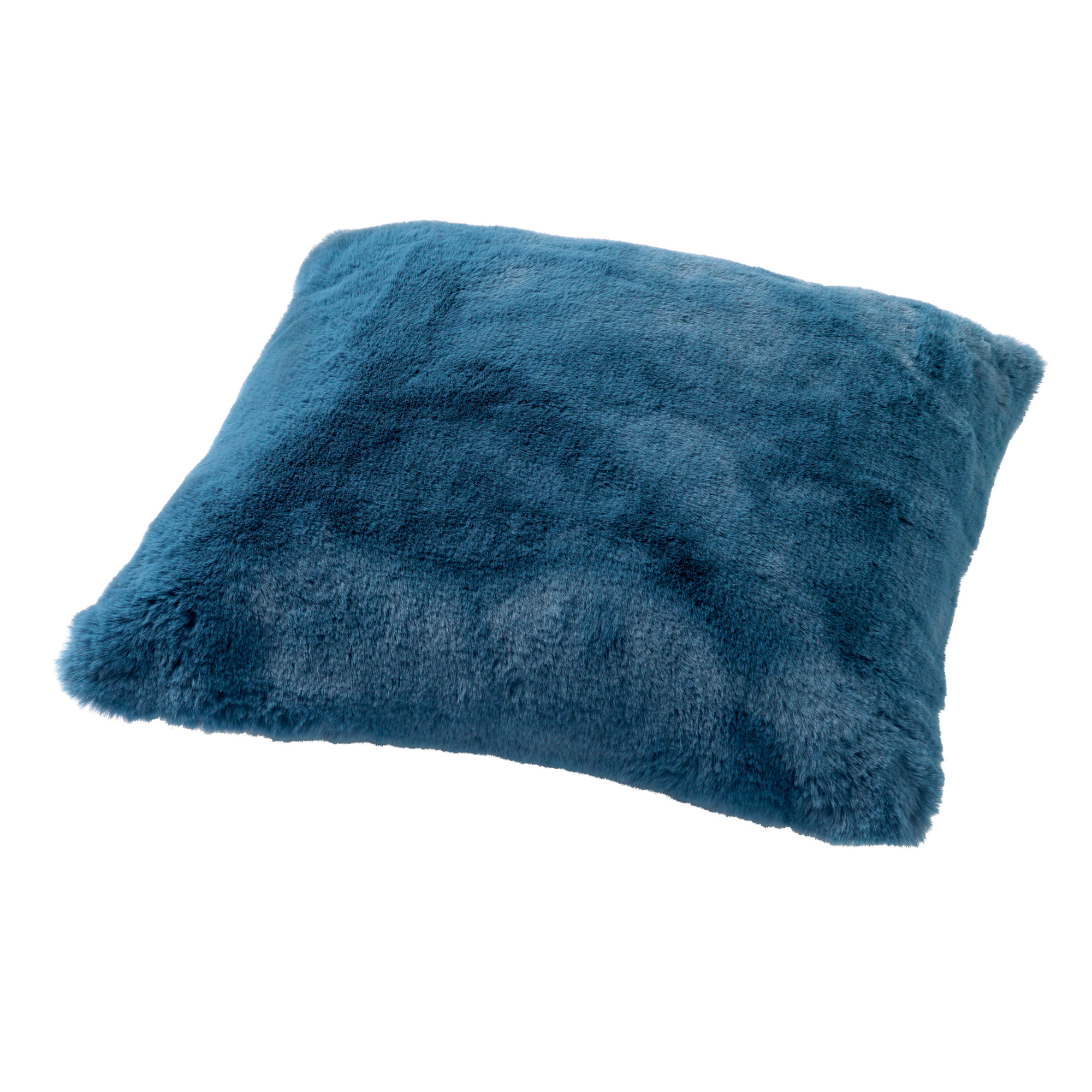 ZAYA - Sierkussen met imitatiebont Provincial Blue 45x45 cm