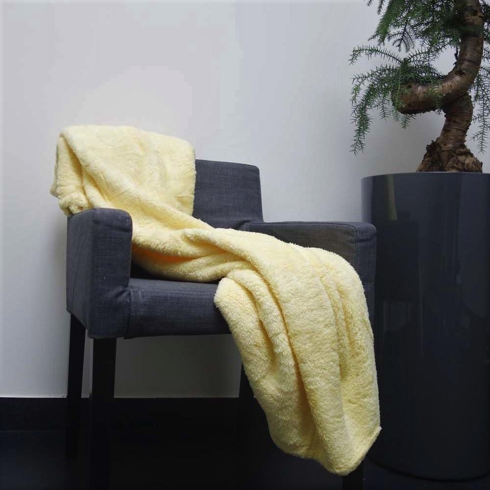 FLEECE - Plaid geel 130x180 cm