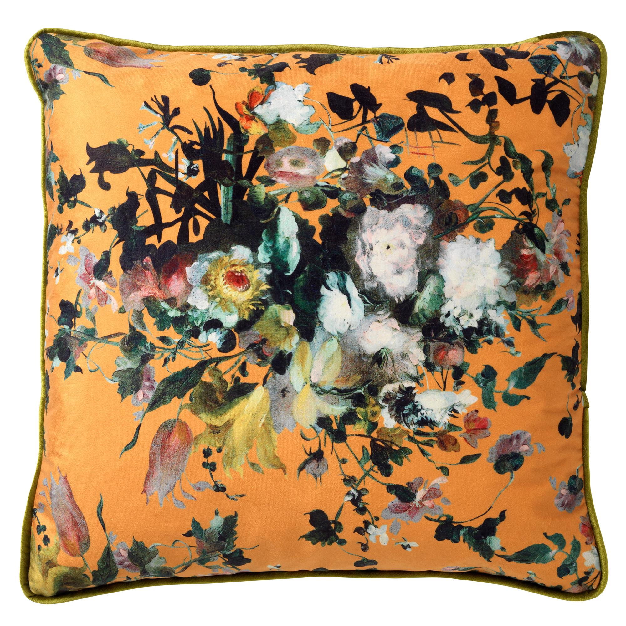 LIAN - Sierkussen met bloemenpatroon Golden Glow 45x45 cm