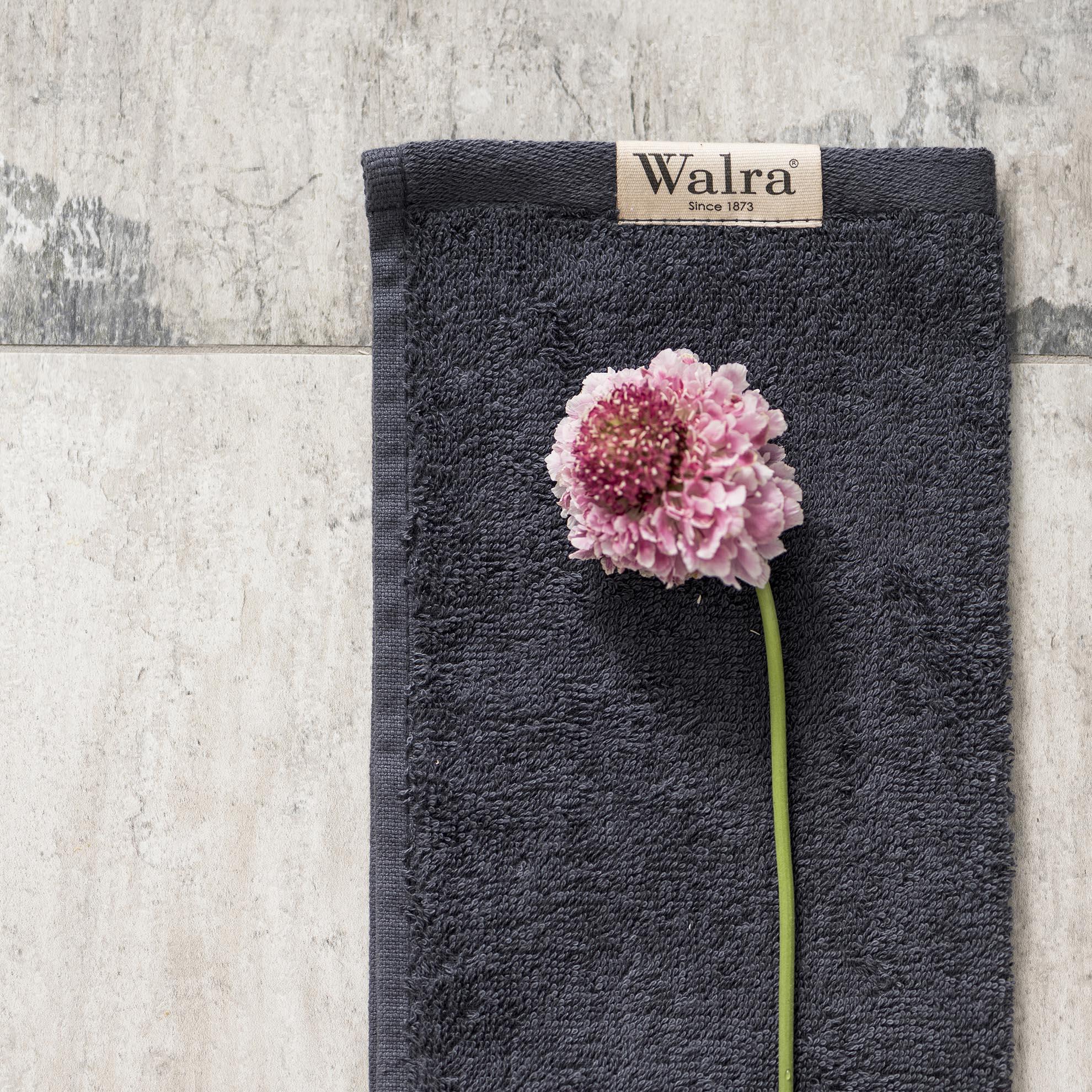 Gastendoek Walra Soft Katoen II (30x50) Antraciet Set van 2 stuks