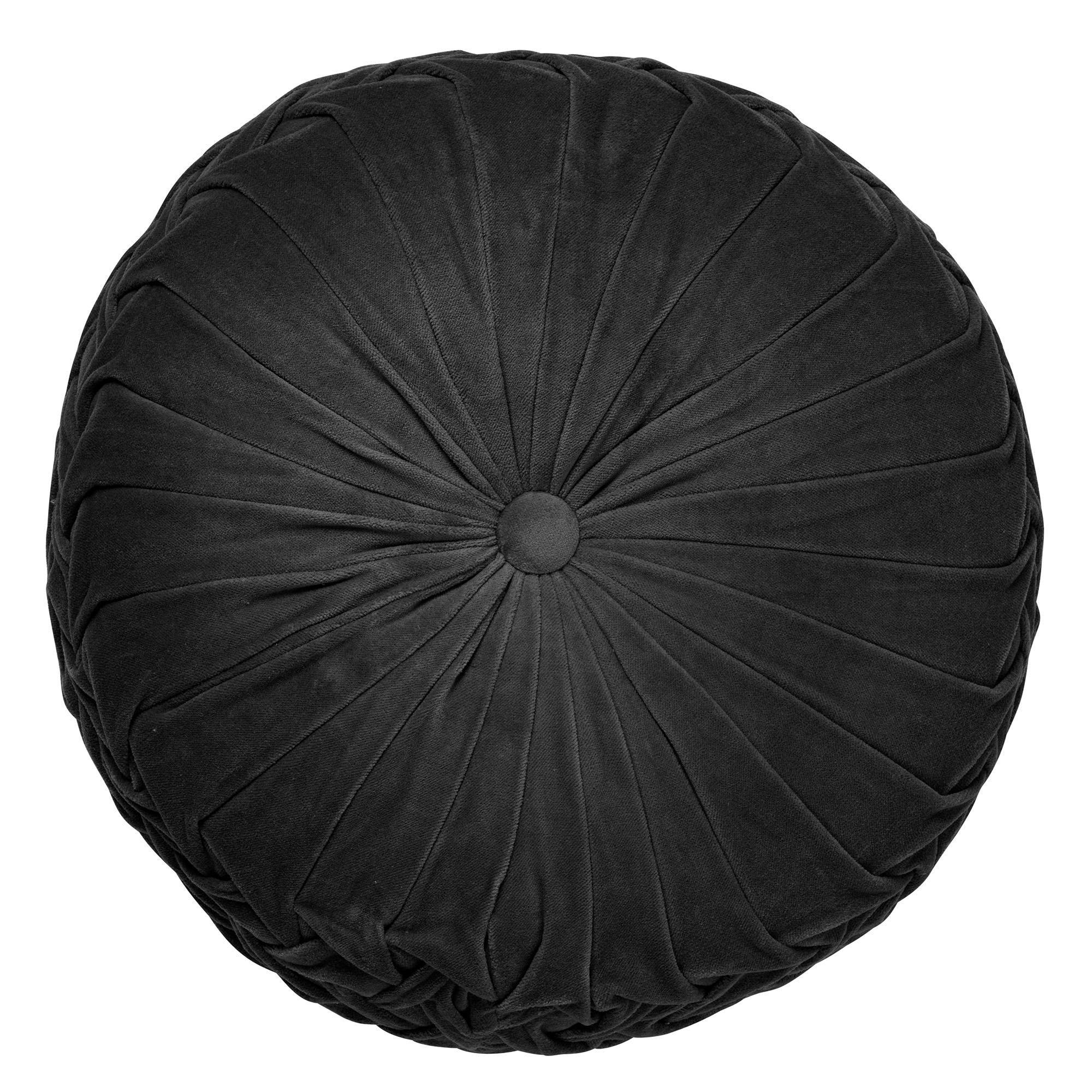 KAJA - Sierkussen rond velvet Raven 40 cm