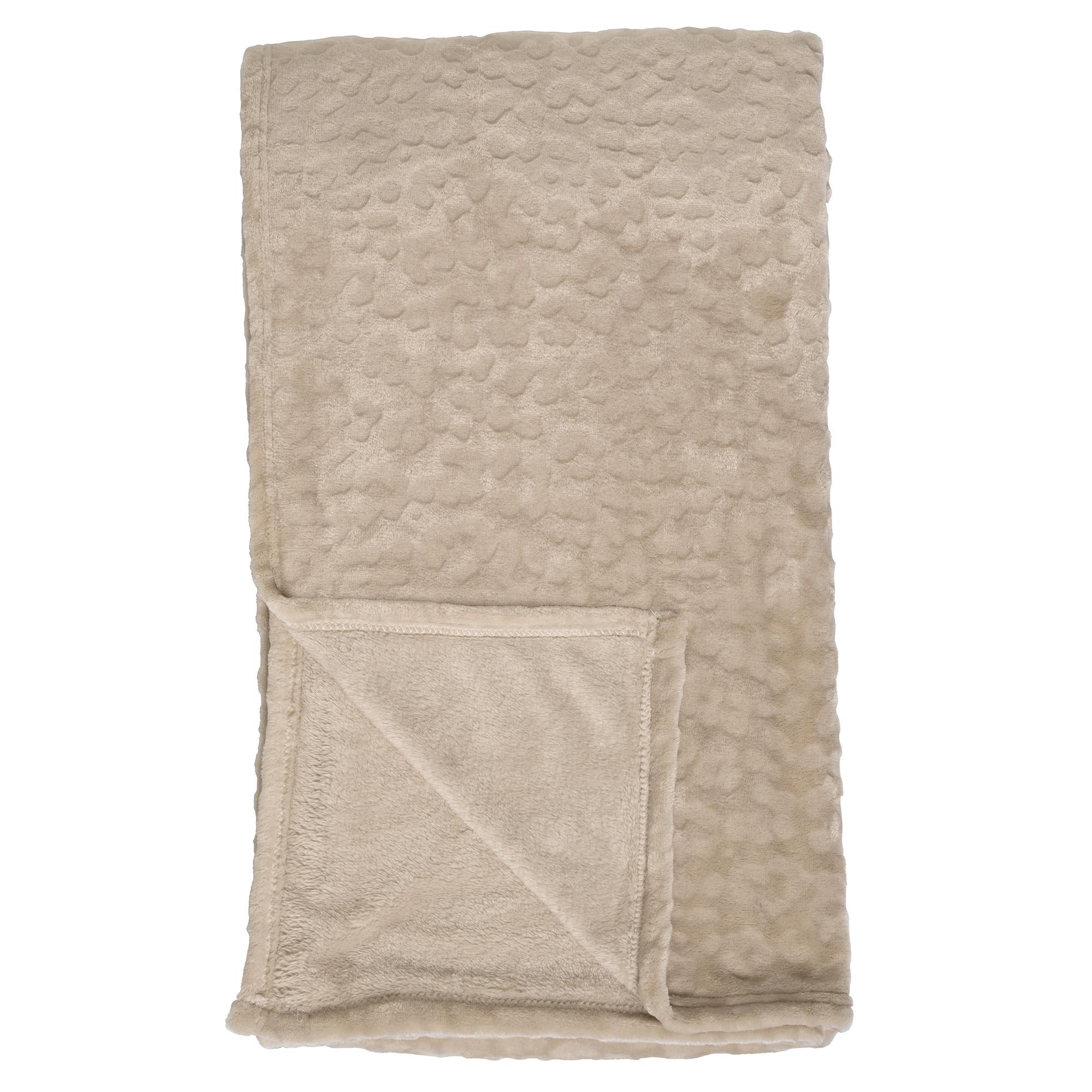 CHESTER - Plaid van fleece 150x200 cm Pumice Stone