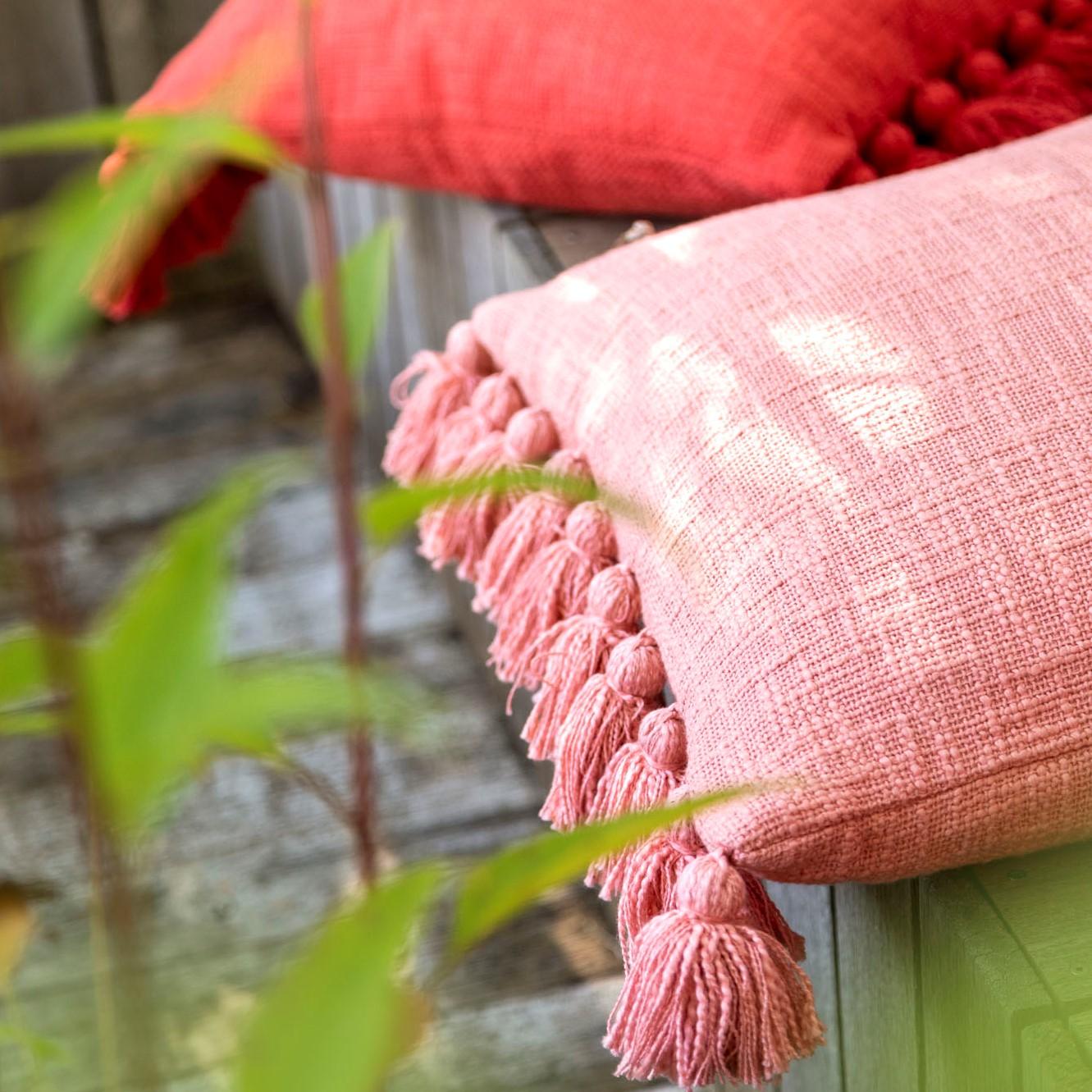 RUBY - Sierkussen van katoen Dusty Pink 45x45 cm