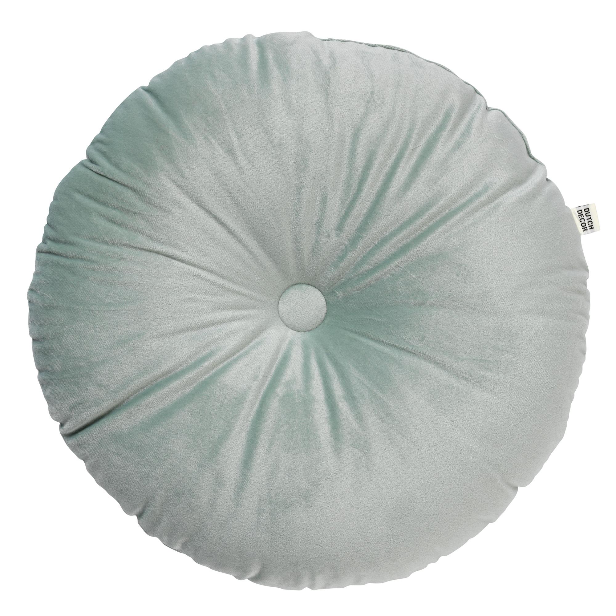 OLLY - Sierkussen rond velvet Jadeite 40 cm