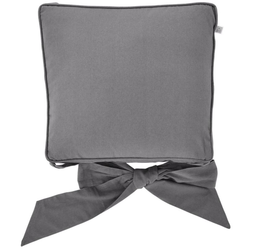 JAVAAN - Stoelkussen met lint Charcoal Gray 45x45 cm