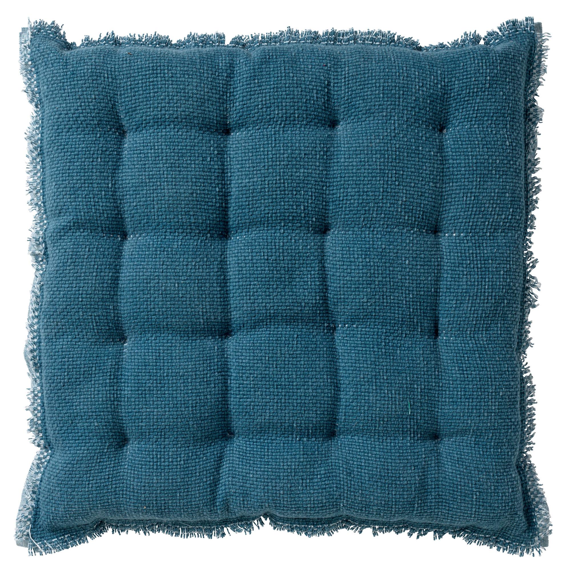 BURTO - Stoelkussen van katoen Provincial Blue 40x40 cm