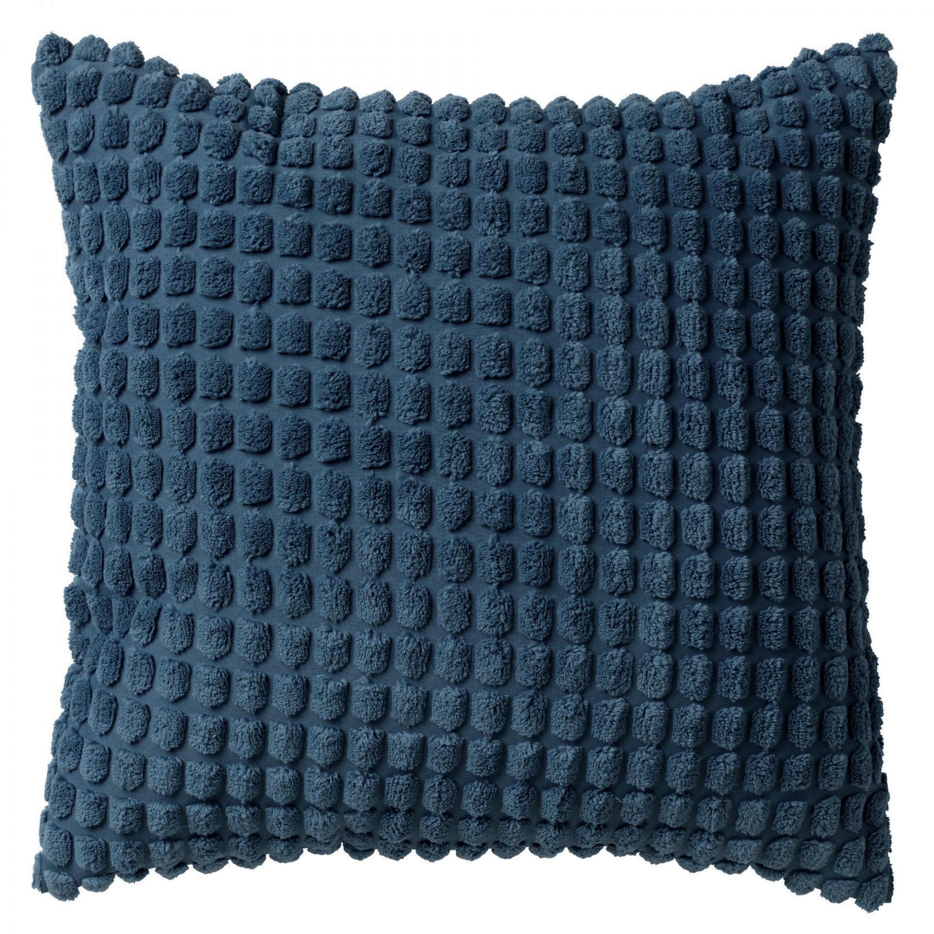 ROME - Sierkussen uni Insignia Blue 45x45 cm