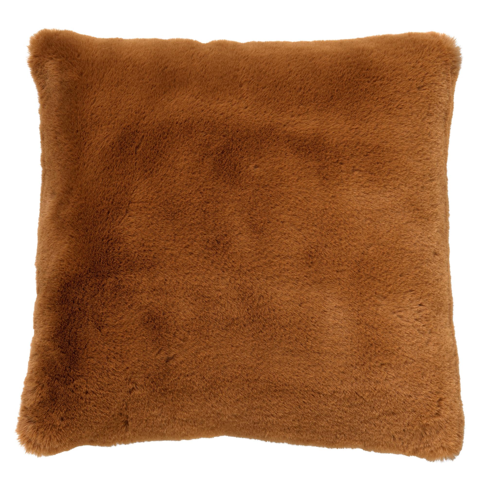 ZAYA - Sierkussen unikleur 60x60 cm Tobacco Brown