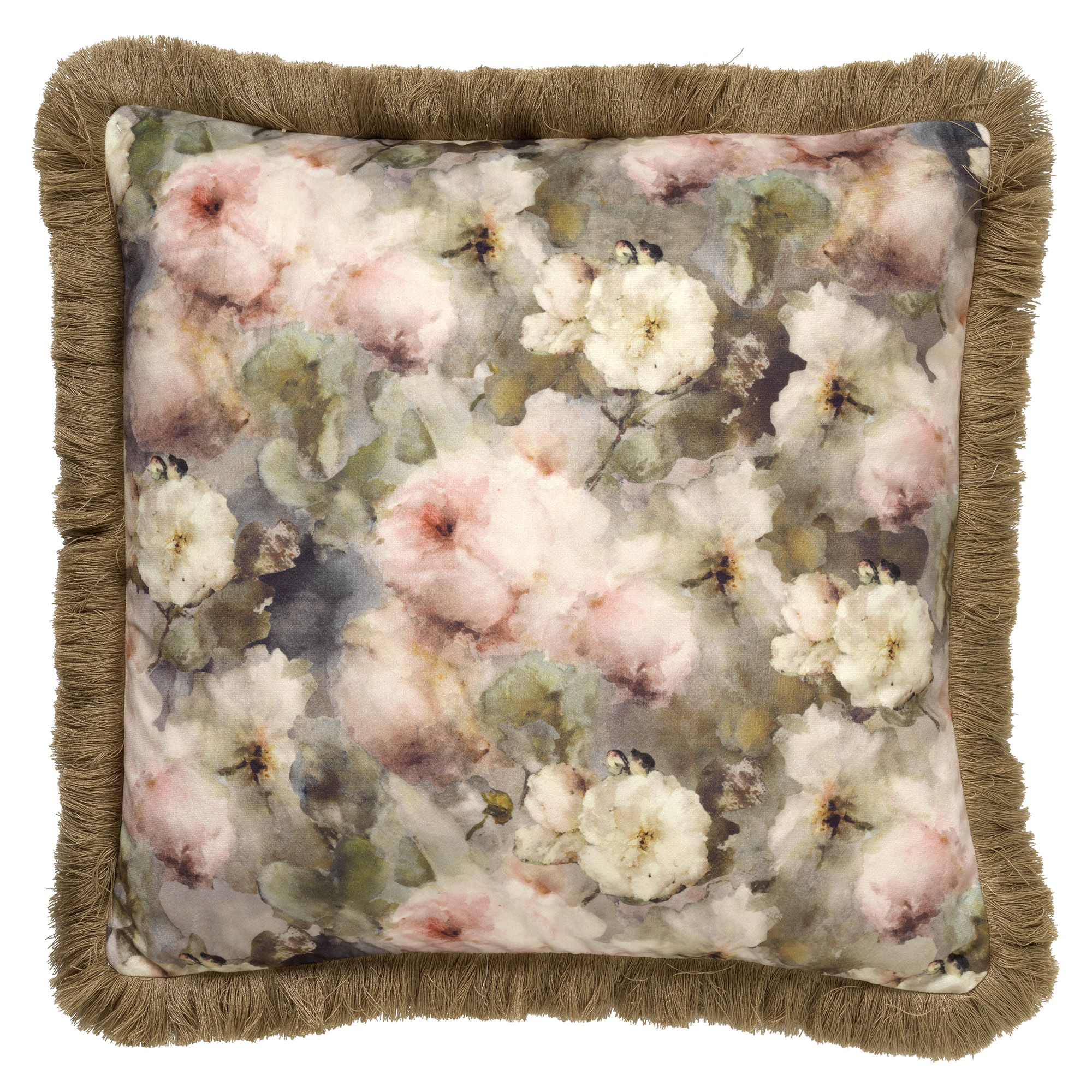 HAILEY - Sierkussen met bloemenpatroon Pumice Stone 45x45 cm