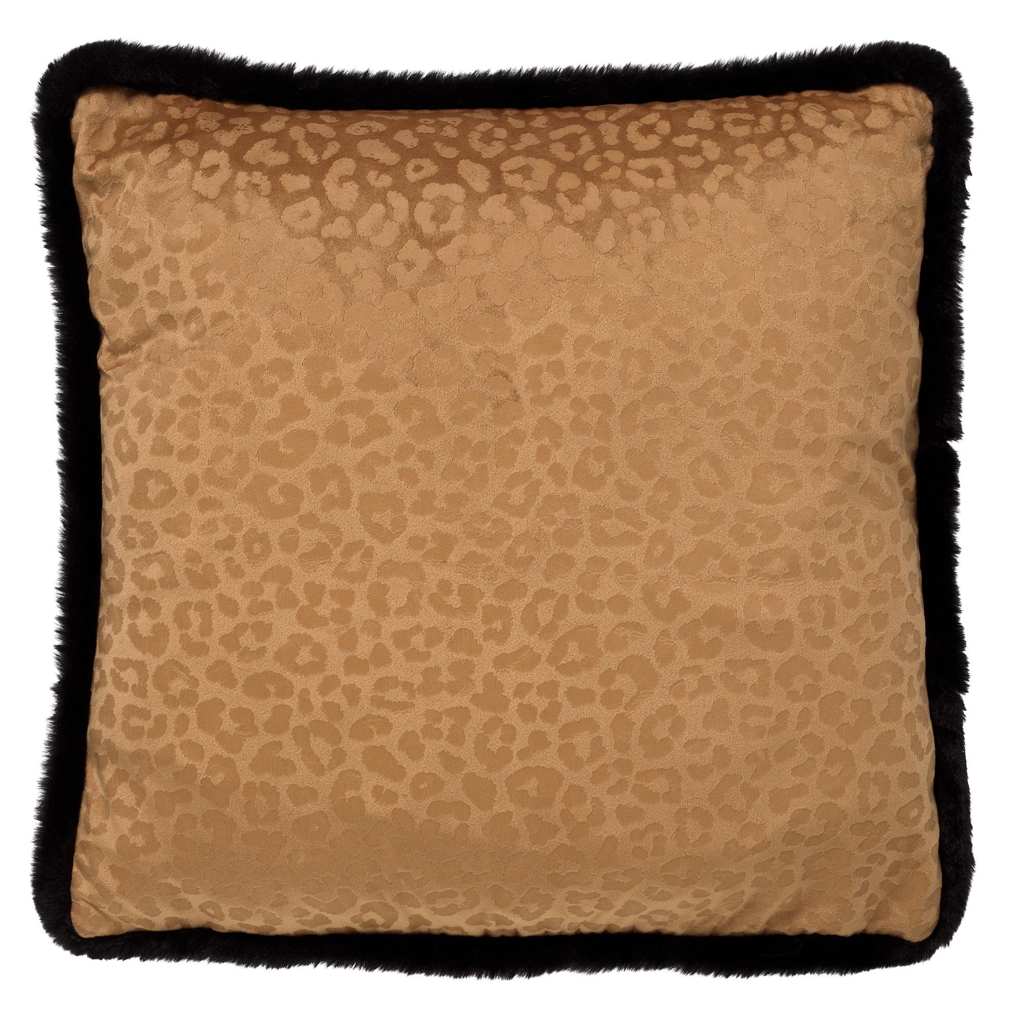 CHEETA - Sierkussen met dierenprint 45x45 cm Tobacco Brown