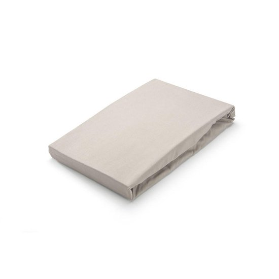 Hoeslaken Walra Crispy Katoen 90x200 cm Zand - 1-persoons