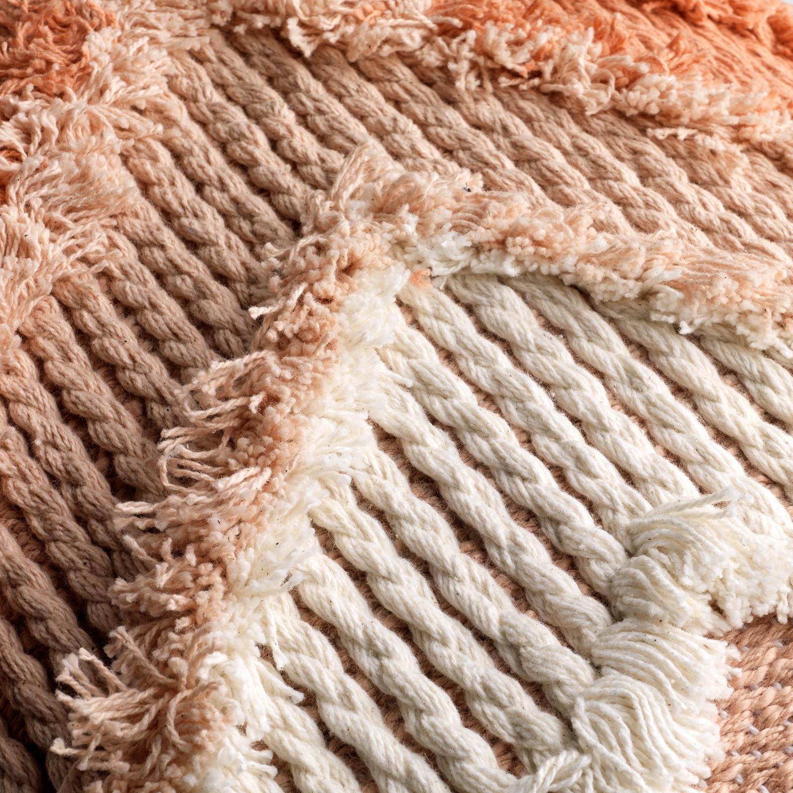 ARROW - Sierkussen van katoen Muted clay 40x60 cm