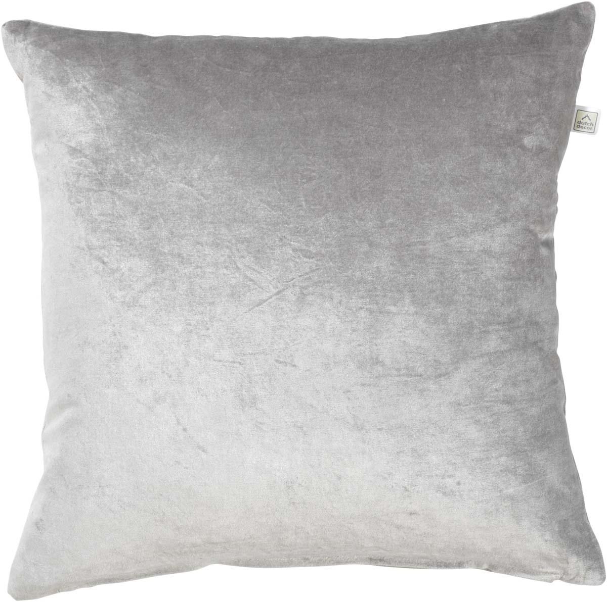CIDO - Sierkussen velvet midden grijs 45x45 cm