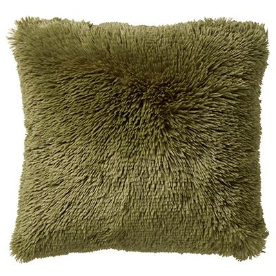 FLUFFY - Sierkussen met imitatiebont Calliste Green 45x45 cm