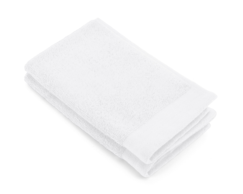 Gastendoek Walra Soft Katoen II (30x50) Wit set van 2 stuks